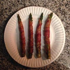 Fresh asparagus • Organic low-sodium bacon