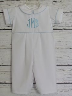 Boys Monogram Romper Take Me Home  Romper First Birthday Monogram Outfit Easter Wedding Ring Bearer Outfit Christmas