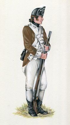 American 2nd Canadian Continental Regiment: Battle of Brandywine Creek on 11th September 1777 in the American Revolutionary War