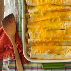 Chicken Enchiladas for Four Recipe from Taste of Home -- shared by Karen Bourne of Magrath, Alberta