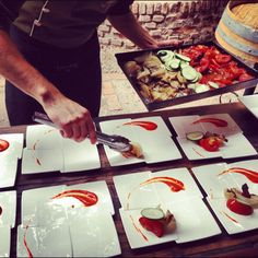 Gazpacho Deconstruído en el Restaurante de @BodegaLagarde