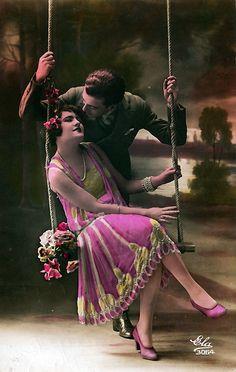 Art Deco Vintage Postcard. @Deidré Wallace