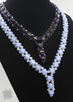 Silky V Neck Beading Tutorial Two Hole by DesertStarCreations
