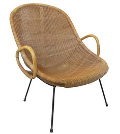 1960u0027s Italian Wicker Armchair U2013 Hollywood At Home; 25x30x33; ...