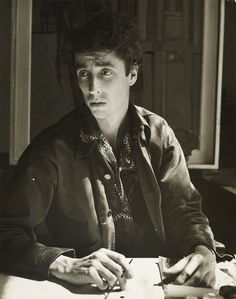 The artist John Minton (1917-1957) photographed by Rollie McKenna, 1951.