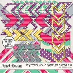 Layered up in You: Chevrons 2 by Lauren Grier