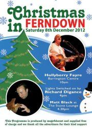 """Leaflet to promote """"Christmas in Ferndown 8.12.12"""" co-organised by the Chamber..."""