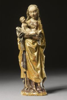 A South Netherlandish Painted Walnut Group of the Madonna and Child, First Quarter 16th Century, Malines