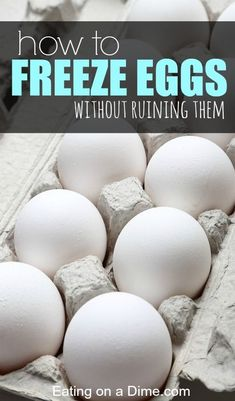 Here are some easy tips to help you see how easy it is to freeze eggs. With these tips you will be able to stock up on eggs when they are very cheap and freeze them without ruining them.