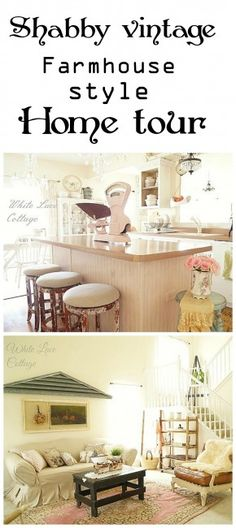 Shabby farmhouse #hometour Nice ideas. Like the long ?table legs? on either side of the fireplace up to the ceiling.