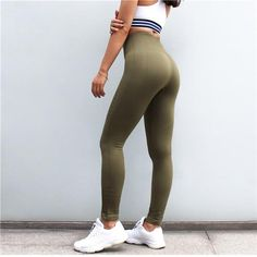867335275d349 Yoga Pants Fitness Gym Leggings Seamless High Elastic Sports Wear – IDRAZ Gym  Leggings, Sports