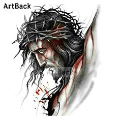 Ideas For Fitness Motivacin Pictures Image Life Jesus Tattoo, God Tattoos, Jesus Drawings, Jesus E Maria, Pictures Of Jesus Christ, Jesus Wallpaper, Jesus Painting, Jesus Christus, Jesus Face