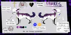"Art by Foxbold Updated, fully detailed ref of Fawkes in his ""Portal"" mode. While much of the details do carry over to his general self, his paws do not glow orange and blue."