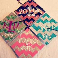 A little much, but still a cute idea. Graduation cap designs