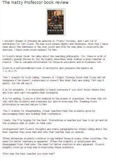 Published on francesothomas.com #Tim Gunn #teacher  #mentor