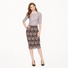 Collection No. 2 pencil skirt in Italian guipure lace - skirts - Women's new arrivals - J.Crew