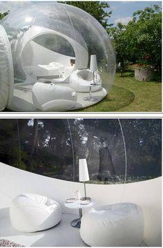 Camping Tent - ok I'd consider camping if I had a bubble tent!