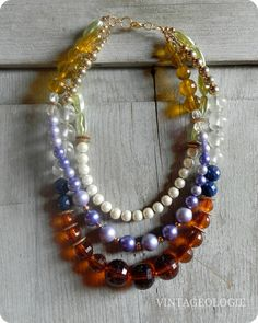 Vintageologie Necklace No5 $49.50 Anthro inspired jewelry/accessories