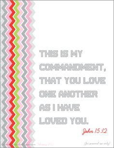 Free Printable Download.  Monthly Memory Verse!