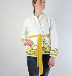 Wrap Sweater  1960s Floral Wrap Cardigan by jessjamesjake on Etsy