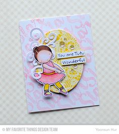 Tutu Cute stamp set and Die-namica, Count the Stars, Lace Background, Pierced Fancy Flourish Die-namics, Zig Zag Stitched Oval STAX Die-namcis - Yoonsun Hur #mftstamps