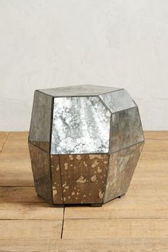 Anthropologie Faceted Mirror Side Table