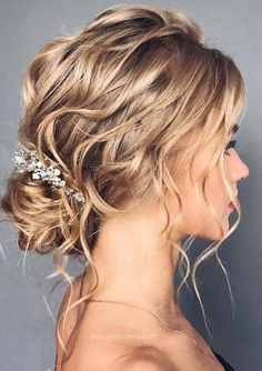 46 Unforgettable Wedding Hairstyles for Long Hair updo hairstyle wi. 46 Unforgettable Wedding Hairstyles for Long Hair updo hairstyle with hair vine for rustic country wedd Wedding Hairstyles For Long Hair, Wedding Hair And Makeup, Updos For Thin Hair, Messy Bridal Hair, Bridal Updo Hairstyles, Bridesmaid Hairstyles, Long Hair Updos, Medium Length Hair Updos, Medium Hair Updo