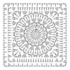 Transcendent Crochet a Solid Granny Square Ideas. Inconceivable Crochet a Solid Granny Square Ideas. Crochet Shawl Diagram, Crochet Motif Patterns, Granny Square Crochet Pattern, Crochet Chart, Crochet Squares, Crochet Granny, Filet Crochet, Crochet Designs, Crochet Doilies