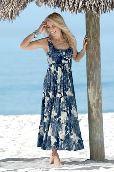 Blue Floral Maxi Sundress: Classic Women's Clothing from #ChadwicksofBoston $54.99 $34.99
