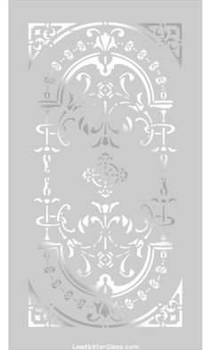 Victorian Sandblasted Glass Designs Page 1