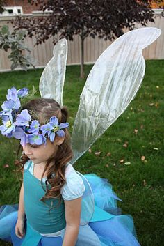 Make your own fairy wings....what little girl wouldn't love this as a party favor?
