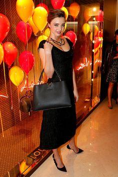 Miranda Kerr en la celebración en honor a Sofia Coppola y Louis Vuitton en París.
