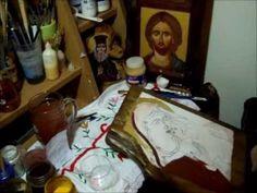 Giannouris Pantelis Agiografia Proplasmos Γιαννουρης Αγιογραφιες Byzantine Art, Byzantine Icons, Painting Videos, Painting Techniques, Paint Icon, Religious Art, Hand Painted, Film, Art