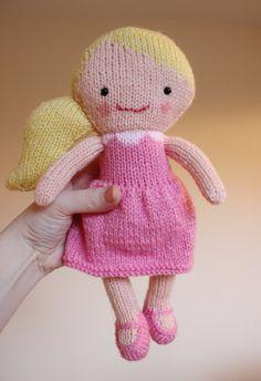 Poupée tricot motif Toy patron PDF  Rosie & Lulu par ElfPop sur Etsy