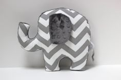 Chevron elephant pillow-so cute!