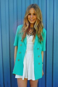 teal. love the jacket