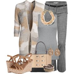 Pastel Sweater In Neutral Tones, created by sue-wilson-berhalter on Polyvore