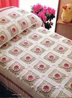 Crochet En Acción: Beautiful afghan with charts