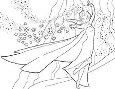 Desenhos para colorir para crianças. Desenhos para imprimir e colorir Frozen 1