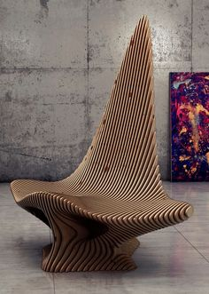 "Created by 24 years old architect, designer and CG artist Oleg Soroko from Moscow, Scate Chair is the newest element from a collection ""Parametric Furniture"" inspired by underwater crea…"