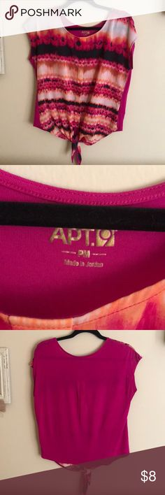Apt. 9 Blouse adorable, bright, and colorful top! Petite Medium, but fits like a regular small or medium. It's a loose fitting top, so it ranges in sizes. Apt.9 Tops Tunics