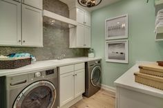 Beach Style Laundry Room by Dream Finders Homes