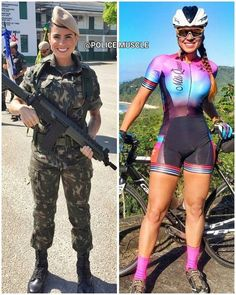 69 Stunning Army Women With & Without Uniform Looking Hot Mädchen In Uniform, Amazing Women, Beautiful Women, Cycling Girls, Female Soldier, Army Soldier, Military Girl, Military Women, Bicycle Girl