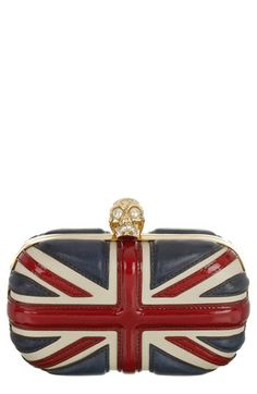 Alexander McQueen 'Britannia' Skull Union Jack Clutch available at #Nordstrom