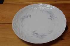 Vintage  Limoges Lunch Plate Set of Four Blue by TreasuresFromUs