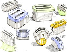 Toaster sketches by CariSketching.deviantart.com on @DeviantArt