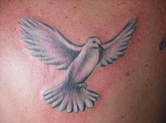 white dove tattoo. Like the colors and position