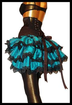 ABSINTHE ANGEL Teal Bustle Skirt
