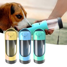 RainBabe Pet Travel Portable Water Bottle Feeder With Spill-Proof Lid Collapsible Water Bottle, Pet Water Bottle, Pet Dogs, Pets, Military Dogs, Go Bags, Small Puppies, Pet Travel, Water Dispenser