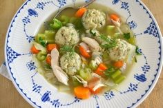 Dilled Matzo Ball Soup plus 10 other chicken soup recipes Passover Recipes, Jewish Recipes, Passover Feast, Passover Food, Soup Recipes, Cooking Recipes, Healthy Recipes, Matzo Ball Soup Recipe, Matzo Meal